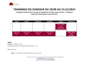 COURS TRAINING DU 30 09 AU 31 12 2013-