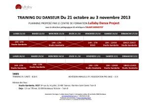 Planning du 21 octobre au 3 novembre 2013