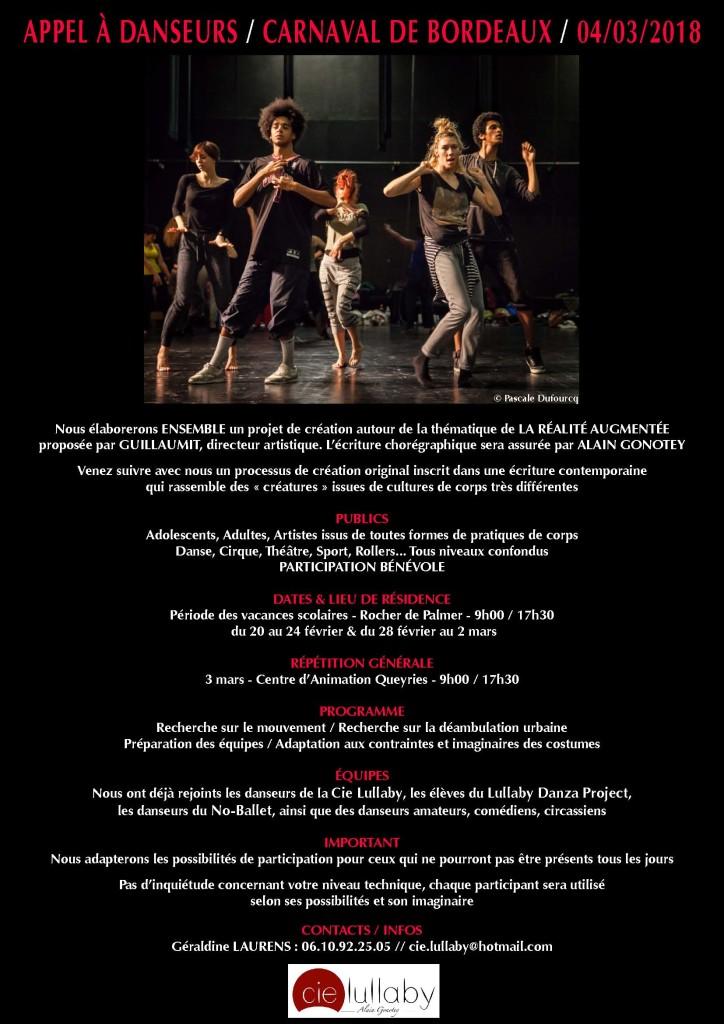 Appel à danseurs - Carnaval de Bordeaux